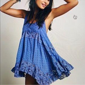 Free People She Swings Cami Slip Dress Lace S-M